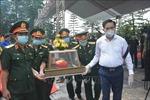 Hà Tĩnh: An táng 11 hài cốt liệt sĩ quân tình nguyện, chuyên gia Việt Nam hy sinh tại Lào