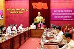 Đồng chí Trương Thị Mai làm việc tại Hòa Bình về công tác chuẩn bị bầu cử
