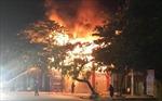 Cháy cửa hàng vật liệu sắt trong đêm, thiệt hại hàng trăm triệu đồng