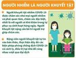 Chăm sóc người mắc COVID-19 tại nhà là người khuyết tật
