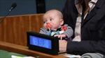 Bé gái 3 tháng tuổi có thẻ riêng dự họp Đại hội đồng LHQ