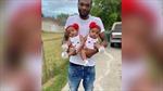 Cảm động người cha lao vào biển lửa cứu hai con gái sinh đôi 18 tháng tuổi