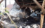Cháy rụi một cơ sở tái chế phế liệu tại tỉnh Bình Dương