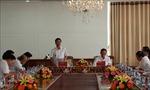 Đoàn Tiểu ban Văn kiện Đại hội XIII làm việc với Ban Thường vụ Tỉnh ủy Hậu Giang