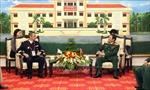 Đại diện lãnh đạo Bộ Quốc phòng tiếp Chủ tịch Hội đồng thể thao quân sự quốc tế