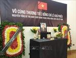 Trang trọng Lễ viếng, mở sổ tang tưởng niệm nguyên Tổng Bí thư Lê Khả Phiêu tại Ai Cập