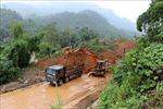 Hòa Bình: Mưa lớn gây sạt lở tại nhiều nơi, một số tuyến đường bị ách tắc