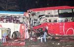 Xe tải tông trực diện xe khách khiến 1 người chết, 4 người bị thương