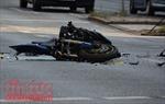 Xe máy chở 3 va chạm xe container, 2 người tử vong tại chỗ