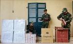 Nhóm buôn lậu tháo chạy sang Campuchia, bỏ lại 3.500 gói thuốc lá ngoại