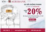 Agribank và TQQ ưu đãi giảm 20% tại cho chủ thẻ Agribank