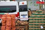 Hà Nội: 2 xe tải thực phẩm tiếp tế cho viện Bệnh nhiệt đới Trung ương cơ sở 2