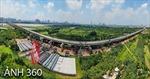 Ảnh 360: Toàn cảnh dự án cầu Vĩnh Tuy 2 sau 7 tháng thi công