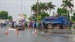 Xe tải chở cát va chạm xe máy, một người tử vong tại chỗ