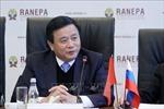 Đoàn đại biểu Học viện Chính trị quốc gia Hồ Chí Minh thăm và làm việc tại Nga