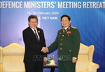 Đại tướng Ngô Xuân Lịch tiếp Tổng Thư ký ASEAN
