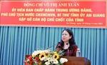 Phó Chủ tịch nước Võ Thị Ánh Xuân làm việc với cán bộ chủ chốt tỉnh An Giang