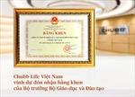 Chubb Life Việt Nam nhận bằng khen của Bộ trưởng Bộ Giáo dục và Đào tạo