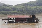 Tàu khai thác khoáng sản  gây sạt lở nghiêm trọng bờ sông Hồng đoạn qua Văn Yên, Yên Bái
