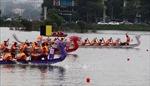 Sôi nổi cuộc đua Bơi chải thành phố Việt Trì