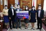 Cộng đồng người Việt tại Lào tiếp tục ủng hộ chống dịch COVID-19 tại quê nhà
