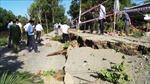 Xuất hiện điểm sụp lún đường giao thông dài hơn 50m ở huyện Tri Tôn, An Giang