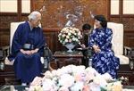 Quyền Chủ tịch nước Đặng Thị Ngọc Thịnh tiếp Trưởng môn phái trà đạo Urasenke Nhật Bản