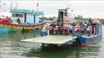 Phà tự hành đến xã đảo Tam Hải ở Quảng Nam hoạt động trở lại