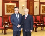 Tổng Bí thư, Chủ tịch nước Nguyễn Phú Trọng tiếp Chủ tịch Đảng Dân chủ Đồng hành Hàn Quốc