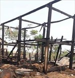 Hỏa hoạn thiêu rụi hai nhà sàn tại Sa Pa
