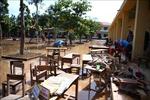 Trường học vùng lũ Hà Tĩnh tập trung dọn dẹp để đón học sinh trở lại