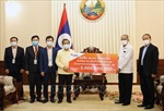 Cộng đồng người Việt tại Lào chung tay cùng chính quyền sở tại phòng chống COVID-19