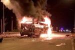 Đắk Nông: Điều tra, làm rõ vụ cháy xe khách đang lưu thông trên đường