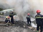 Đà Nẵng: Đám cháy tại bãi rác Khánh Sơn đã cơ bản được khống chế