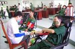 Ngày hội hiến máu tình nguyện ở Trường Sĩ quan Thông tin