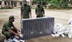 An Giang bắt hai vụ vận chuyển 6.000 bao thuốc lá lậu qua biên giới