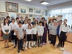 Khai giảng lớp tiếng Việt tại ngôi trường mang tên Chủ tịch Hồ Chí Minh ở Ukraine