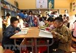 'Tủ sách Đinh Hữu Dư' của tuổi trẻ Thông tấn đến với miền núi Bát Xát