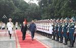 Tổng Bí thư, Chủ tịch nước Nguyễn Phú Trọng chủ trì Lễ đón Tổng thống Ấn Độ