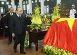 Lãnh đạo Đảng, Nhà nước viếng nguyên Bí thư Thành ủy Hà Nội Nguyễn Văn Trân