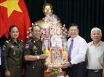Bộ Tư lệnh Cảnh vệ, Quân đội Hoàng gia Campuchia chúc Tết tại Vĩnh Long