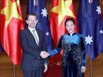 Chủ tịch Quốc hội Nguyễn Thị Kim Ngân đón và hội đàm với Chủ tịch Thượng viện Australia