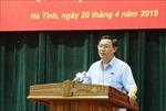 Phó Thủ tướng Vương Đình Huệ tiếp xúc cử tri doanh nghiệp Hà Tĩnh