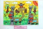 Gần 300 thiếu nhi tham gia vẽ tranh 'Bác Tôn với công nhân'