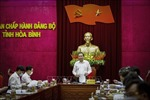 Chủ tịch Ủy ban Trung ương Mặt trận Tổ quốc Việt Nam làm việc tại tỉnh Hòa Bình