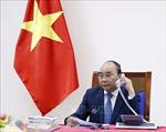 Thủ tướng Chính phủ Nguyễn Xuân Phúc điện đàm với Thủ tướng Nhật Bản Abe Shinzo