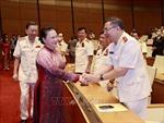 Chủ tịch Quốc hội Nguyễn Thị Kim Ngân gặp mặt các điển hình tiên tiến trong lực lượng Công an nhân dân
