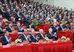 Đồng chí Trần Quốc Vượng dự Đại hội Đảng bộ tỉnh Ninh Bình