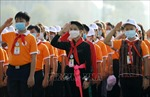 Đoàn Đại biểu Cháu ngoan Bác Hồ dâng hương, báo công với Bác