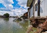 12 căn nhà bị sụp một phần do sạt lở trên sông Trà Nóc (Cần Thơ)